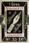 Antike Schreibfederschachtel, Brause & Co, No. 33 EF