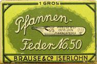 Schachtel mit Brause No. 50 - 2 Kalligraphie Pfannenfedern