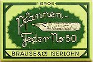 Schachtel mit Brause No. 50 - 3 Kalligraphie Pfannenfedern