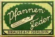Schachtel mit Brause No. 50 - 1 Kalligraphie Pfannenfedern