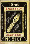 Brause & Co, Iserlohn, Schreibfeder-Schachtel No. 51 EF
