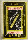 Antike Schreibfeder-Schachtel No. 2, Brause und Co, No. 515, Röhrchenfeder