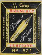 Antike Schreibfederschachtel, Brause & Co, No. 521, Notenfeder