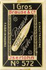 Antike Schreibfederschachtel, Brause & Co, Breitfeder No. 572