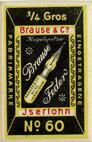 Antike Schreibfederschachtel Brause & Co, No. 60, 1 viertel Gros, Durchschreibfeder