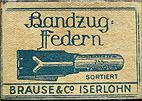 Antike Schreibfederschachtel, Brause & Co, No. 755, Plakatfeder