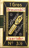 Antike Schreibfederschachtel, Brause & Co, No. 600, 3 1/2