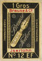 Antike Schachtel mit Kalligraphie Spitzfedern, Brause & Co, No. 12 EF, Leona