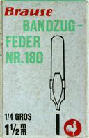 Antike Schreibfeder-Schachtel, Brause Bandzugfedern Nr. 180, 1,5 mm