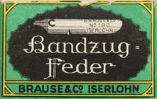 Antike Schreibfederschachtel, Brause & Co, No. 180, 1mm, ohne Oberfeder