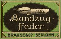 Antike Schreibfederschachtel, Brause & Co., No. 190, 1mm