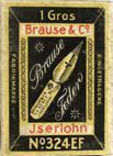 Antike Schreibfederschachtel, Brause & Co, No. 324 EF