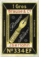 Antike Schreibfederschachtel, Brause & Co, No. 334 EF