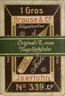 Antike Schreibfederschachtel, Brause & Co, No. 339 EF