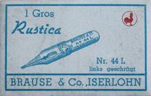 Antike Schreibfederschachtel, Brause & Co, No. 44 L, Rustica