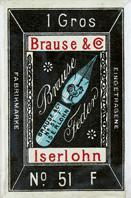 Antike Schachtel Kalligraphie Spitzfedern, Brause & Co, No. 51 F