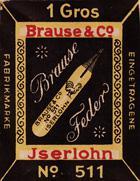 Antike Schreibfederschachtel, Brause & Co, No. 511