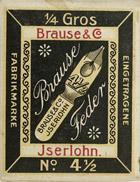 Antike Schreibfederschachtel, Brause & Co, No. 600-4½