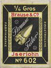 Antike Schachtel mit Ober-/Unterfeder No. 602, Brause & Co, für Bandzug No. 600