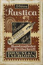 Antike Schreibfederschachtel, Brause & Co, No. 613, Rustica