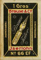 Antike Schachtel mit Zeichenfedern, Brause & Co No. 66 EF