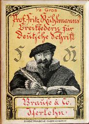 Antike Schreibfederschachtel, Brause & Co, Prof. Fritz Kuhlmanns Breitfeder für Deutsche Schrift
