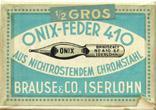 Antike Schreibfederschachtel, Brause & Co, No. 410 EF, Onix-Feder