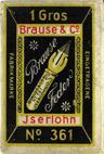 Antiek Schreibfederschachtel, Brause & Co, Stenofeder 361, 1 Gros