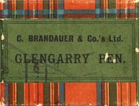 Antike Schreibfederschachtel, C. Brandauer & Co, Clan Glengarry Pen