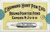 Antike Schreibfederschachtel, C. Howard Hunt Pen Co, No. 56, School Round Pointed