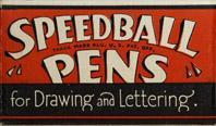 Antike Schreibfederschachtel, Speedball Serie LC, Lefthand