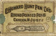 Antike Schreibfederschachtel, C. Howard Hunt Pen Co., No. 709, Courier Stub, Round Pointed
