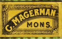 Antike Schreibfederschachtel, C. Magerman Mons, No. 53