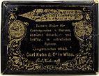 Antike Schreibfederschachtel, Carl Kuhn & Co, No. 142 EF, Cekaco Feder