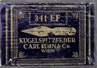 Antike Schreibfederschachtel, Carl Kuhn & Co A.G., No. 341 EF