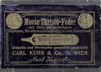 Antike Schreibfederschachtel, Carl Kuhn & Co, No. 52 EF und F, Monte Christo Feder