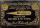 Antike Schreibfederschachtel, Carl Kuhn & Co, No. 108 EF, Korrespondenzfeder