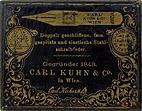 Schreibfeder-Schachtel, Carl Kuhn & Co, Wien, No. 200 EF