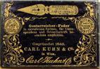 Antike Schreibfederschachtel, Carl Kuhn & Co, No. 335 EF, Österreicher-Feder