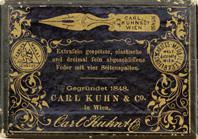 Schachtel mit Kalligraphie Spitzfedern, Carl Kuhn & Co, No. 450 EF