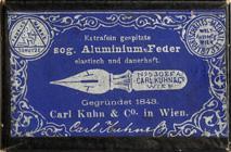 Antike Kalligraphie Spitzfeder, Carl Kuhn & Co, No. 530 EF A, Aluminium-Feder