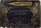 Antike Schreibfederschachtel, Carl Kuhn & Co, No. 324 EF, Cementirte Handelsfeder