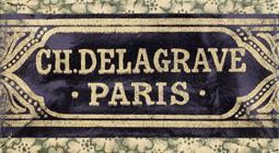 Antike Schachtel mit Kalligraphie Schreibfedern, Ch. Delagrave, No. 2, Paris