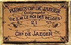 Antike Schreibfederschachtel, Charles De Jaeger, No. 21