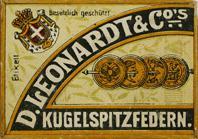 Antike Schreibfederschachtel, D. Leonardt & Co, No. 503 EF, Kugelspitzfeder, εύρηκα
