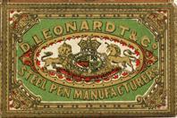Antike Schreibfederschachtel, D. Leonardt & Co, Gothic Pen