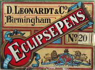 Schachtel mit Kalligraphie Spitzfedern, D. Leonardt & Co, No. 20, Eclipse Pen