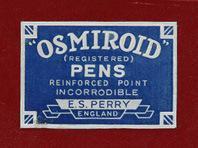 Antike Federschachtel, Edmund S. Perry, MR 1, Osmiroid