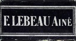 Antike Schreibfederschachtel, F. Lebeau, No. 66