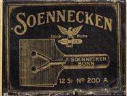 Antike Schachtel mit Kalligraphie Plakatfedern, F. Soennecken, No. 200 A